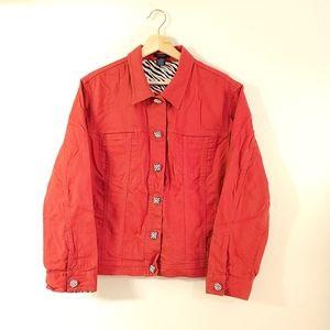 Westbound Red Denim Jewel Jacket